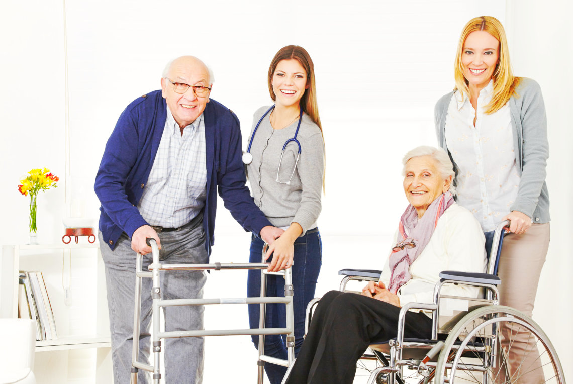caretakers and elderly patients